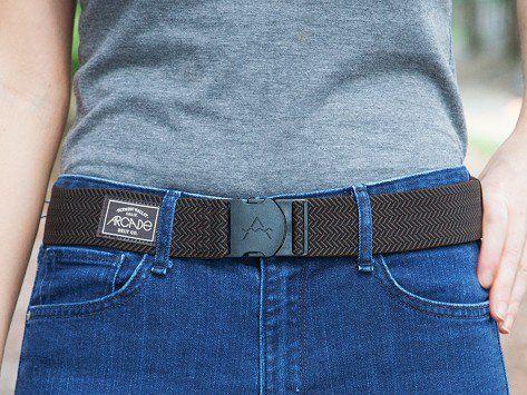 Black & Brown Elastic Belts by Arcade Belts