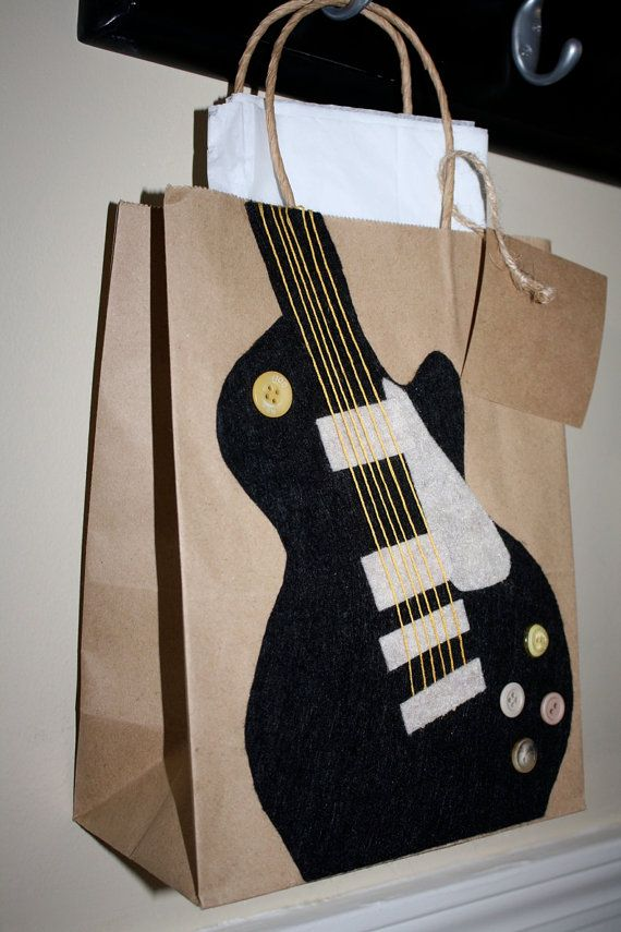 guitar gift bag wrappings gift bags guitar gifts bags. Black Bedroom Furniture Sets. Home Design Ideas