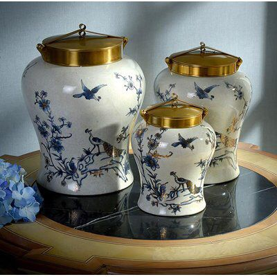 3 Piece Urn Set Decorated Jars Urn Decorative Pillows