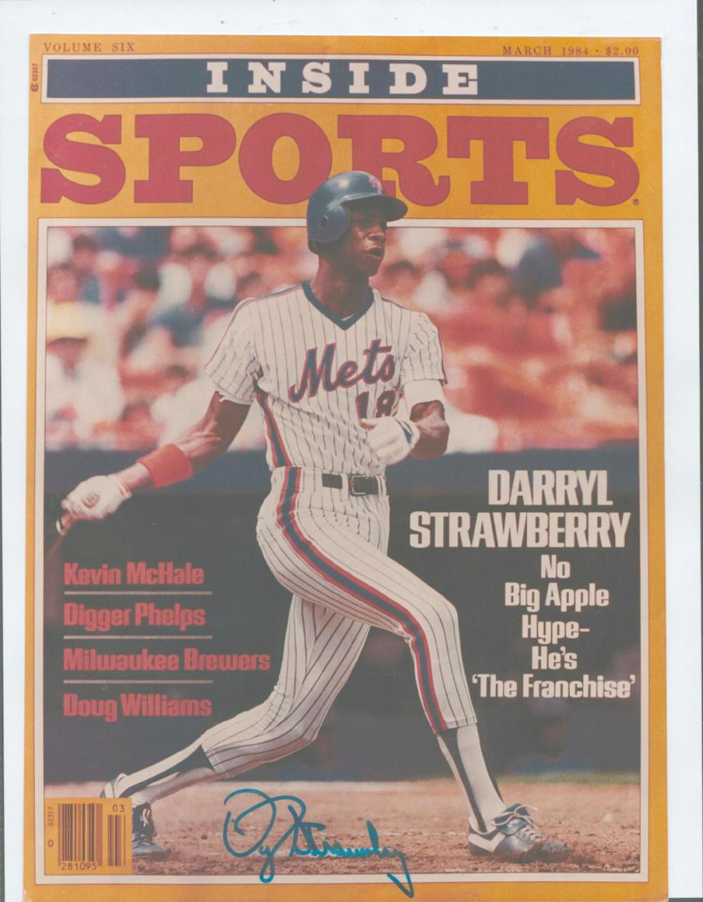 Darryl Strawberry Signed Inside Sports Magazine Cover W Coa Sports Magazine Covers Sports Magazine Magazine Cover