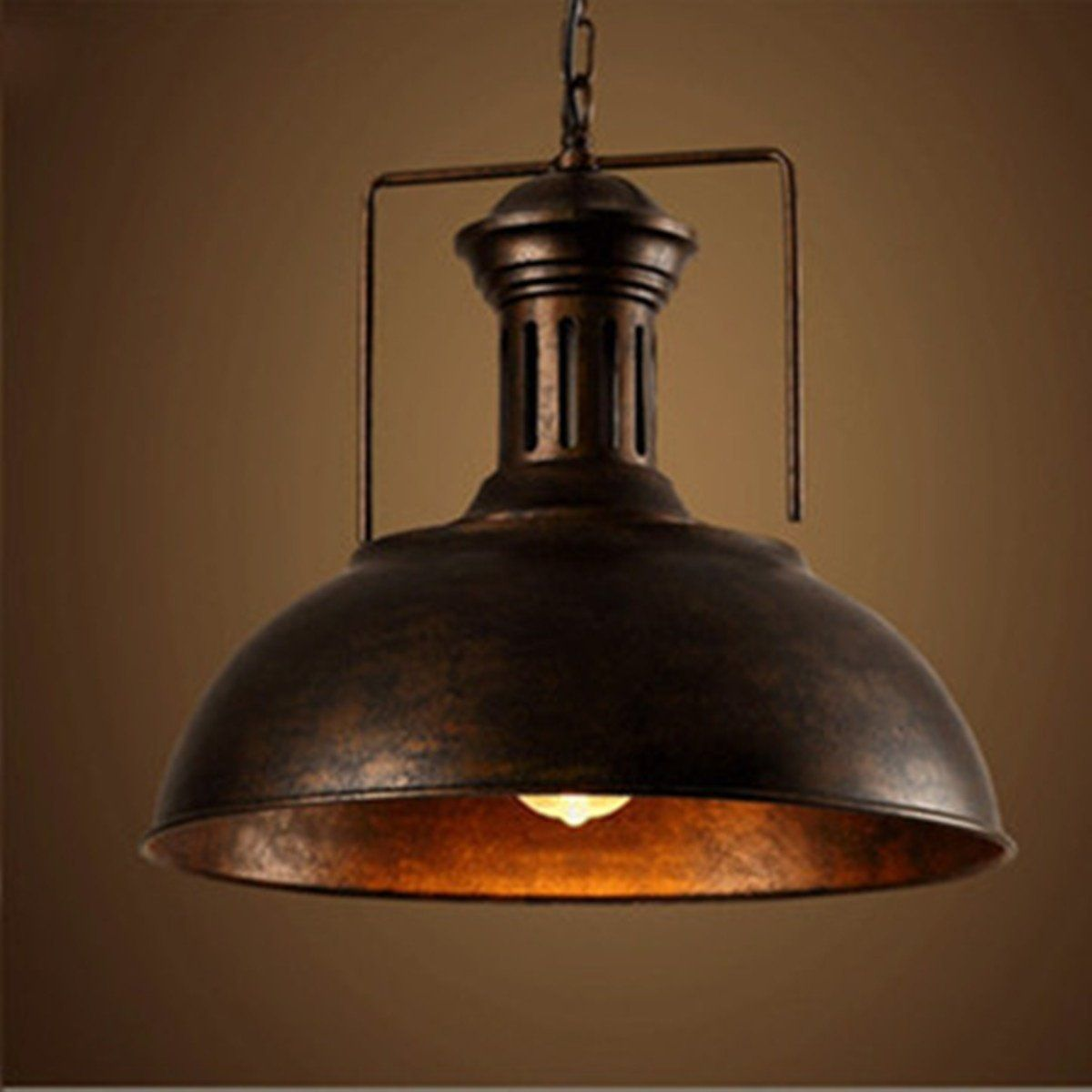 bcf193acf08 Vintage Retro Industrial Ceiling Light Lamp Shade Fixture Lighting Cafe  Home Decor (Color  Black