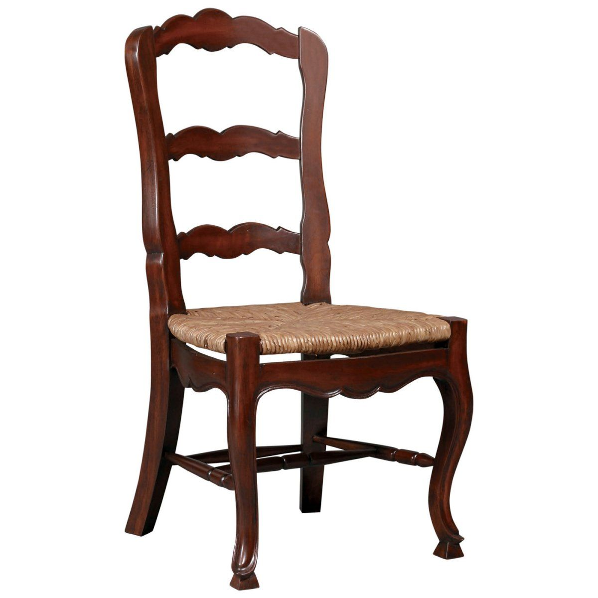 French country ladderback side chair set of 2 casual dining chairs at hayneedle