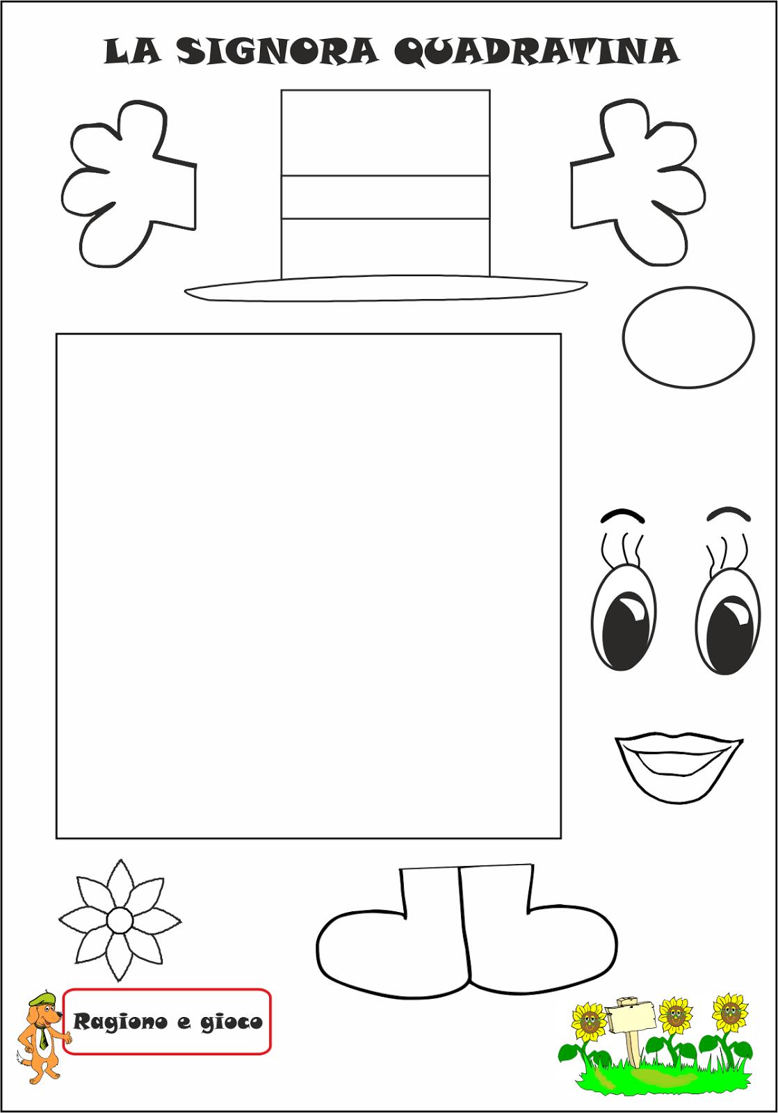 La signora quadratina cornicette educa o escola e - Numero di fogli di lavoro per bambini ...