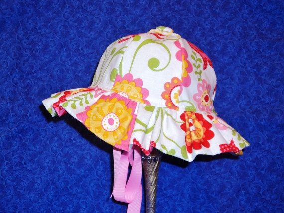 Baby Sunhat Flowers by AdorableandCute on Etsy, $26.00