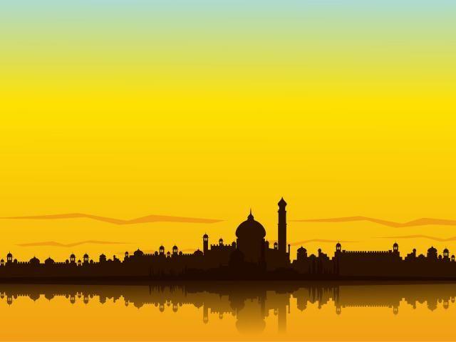 India Background: India Landscape PPT Backgrounds Template For Presentation
