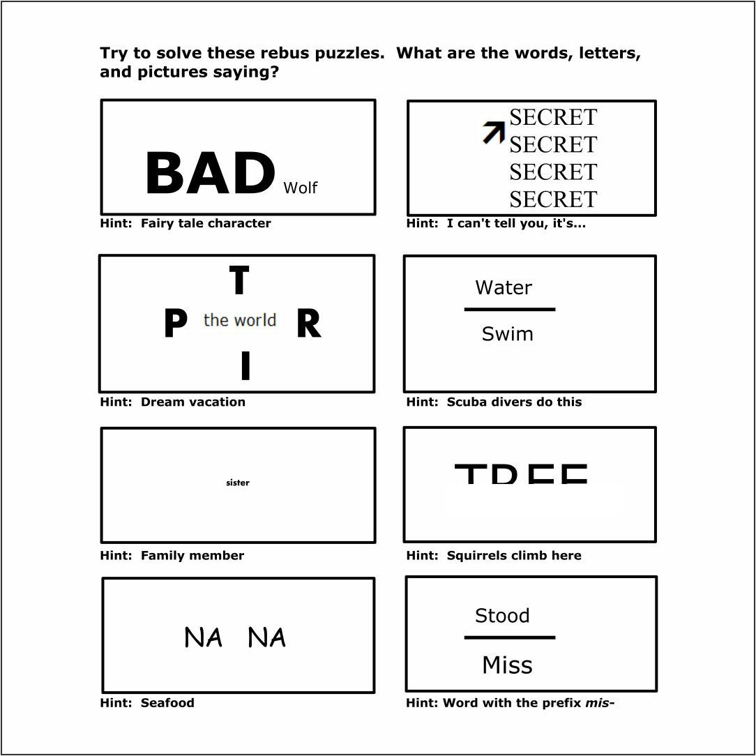 Brain Teaser Printable Worksheets In