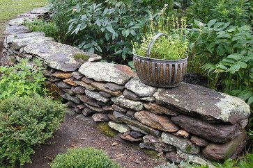 Dry Stack Stone Wall Design Ideas, Pictures, Remodel, And Decor