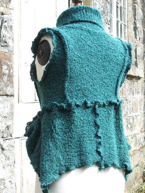 Fluffy waist coat by raggedyrags, via Flickr