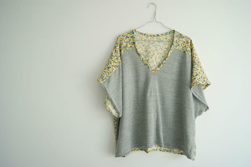 la blouse kimono bicolore couture blusen und n hen. Black Bedroom Furniture Sets. Home Design Ideas