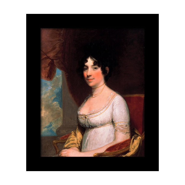DOLLEY MADISON US PRESIDENT WIFE PORTRAIT PAINTING HISTORY ART REAL CANVAS PRINT