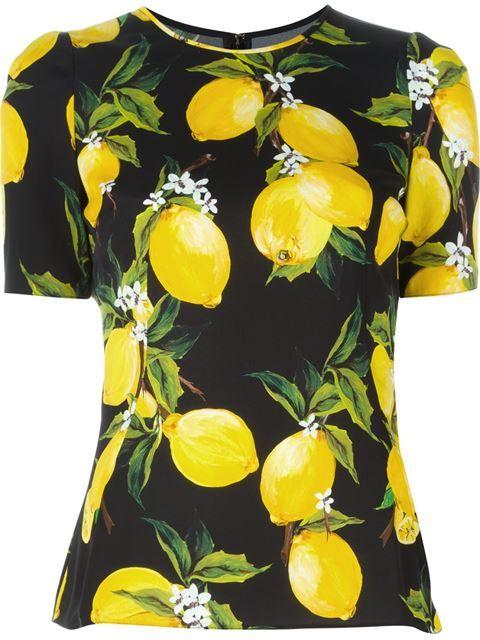 DOLCE   GABBANA Lemon Print T-Shirt.  dolcegabbana  cloth  t-shirt ... 9394e413899d