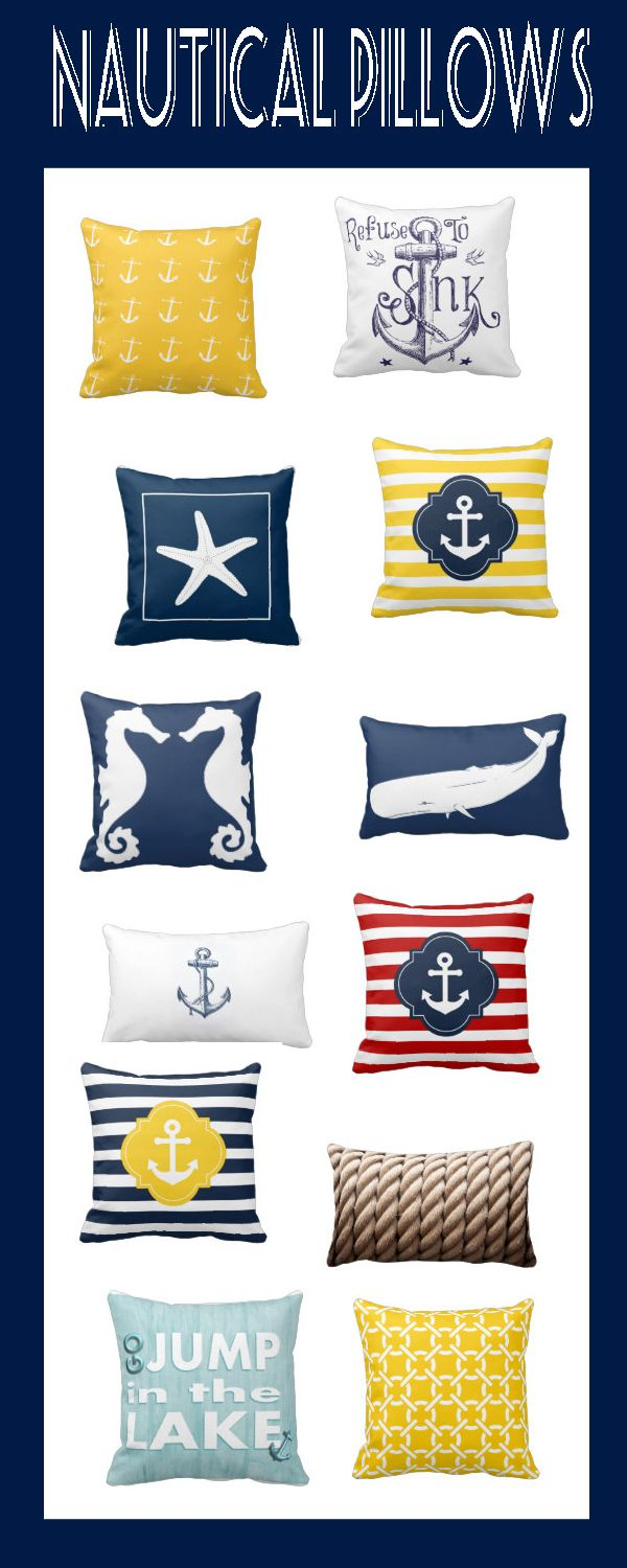 Nautical gifts for the home - Nautical Pillows On Nautical Gifts Home Decor And Weddings