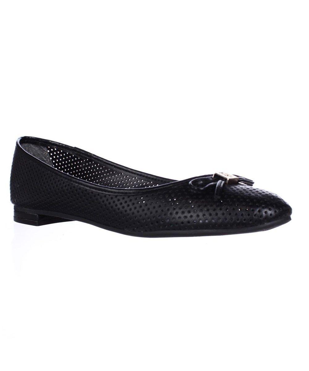 TOMMY HILFIGER Tommy Hilfiger Mirella Perforated Ballet Flats - Black Multi'. #tommyhilfiger #shoes #loafers