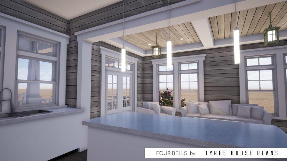 2 Bedroom Beach House Designed For Narrow Lot Tyree House Plans In 2020 House Plans Beach Bedroom Beach House Plans