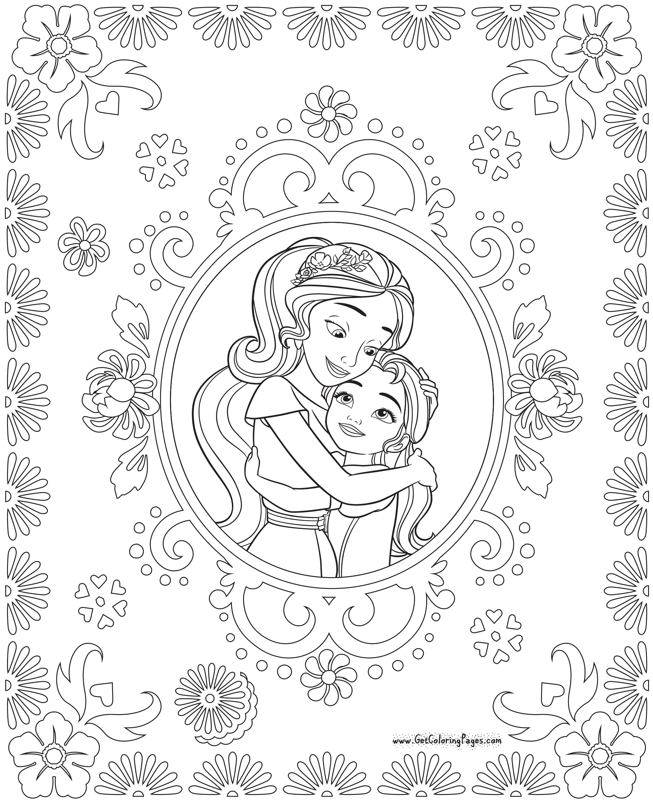 Elena Of Avalor Colouring Pages