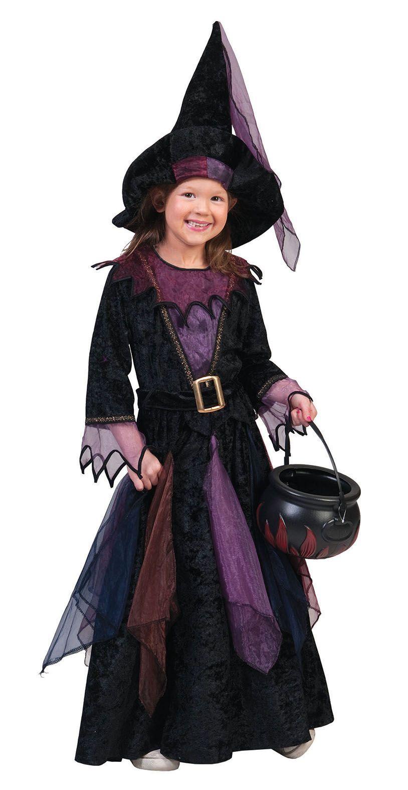 Disfraz de bruja terciopelo niña Halloween  Este disfraz de bruja para niña… 50812f28fa55