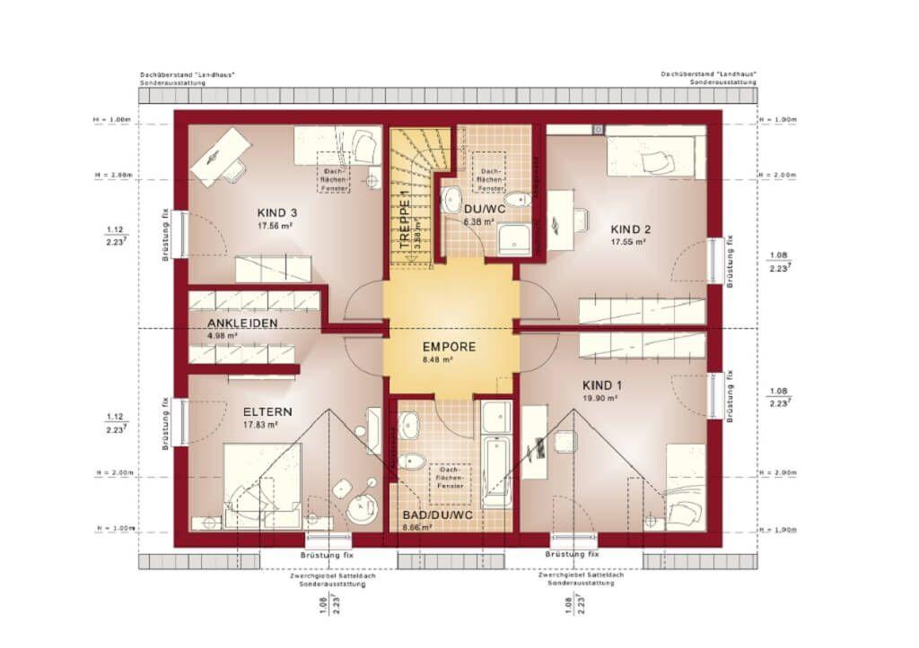 Zweifamilienhaus Grundriss Obergeschoss - Haus Evolution 208 V5 von - offene kuche wohnzimmer grundriss