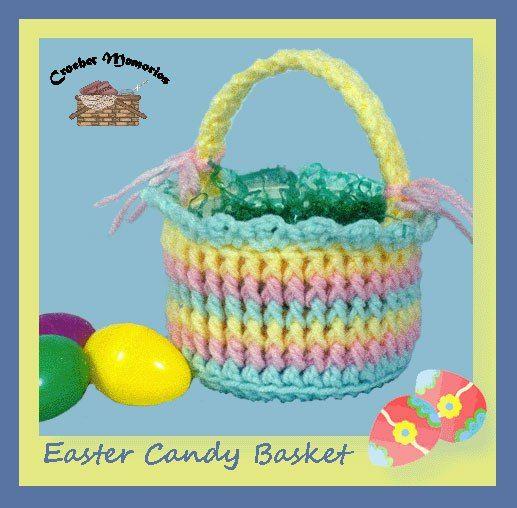 Free Easter Basket Crochet Patterns Pinterest Easter Candy