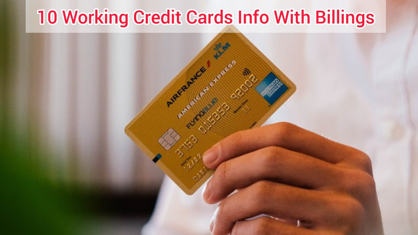 how to get working credit card numbers