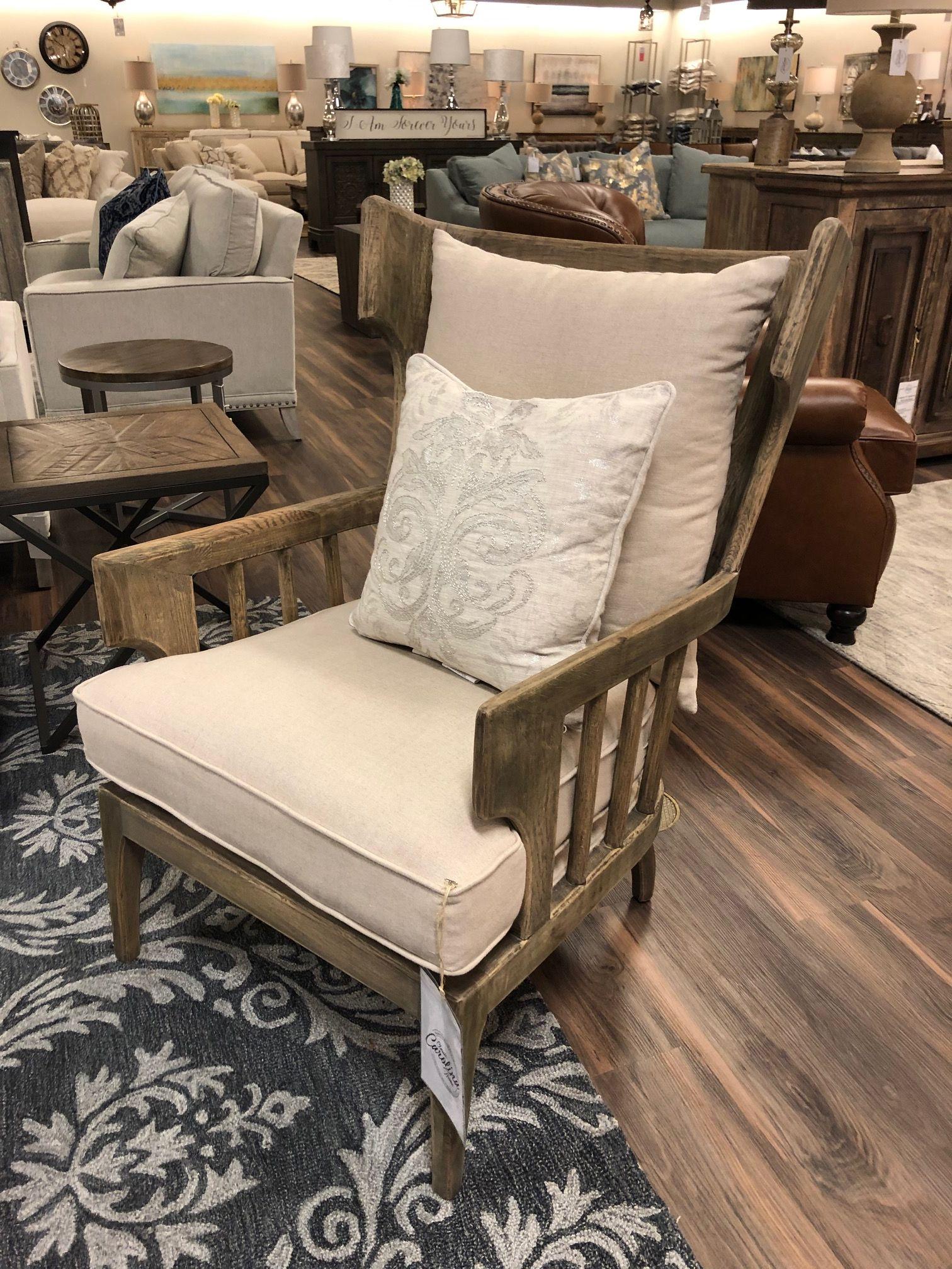 Lars Oak Wingback Accent Chair Driftwood Linen Accent Chairs Wingback Accent Chair Chair