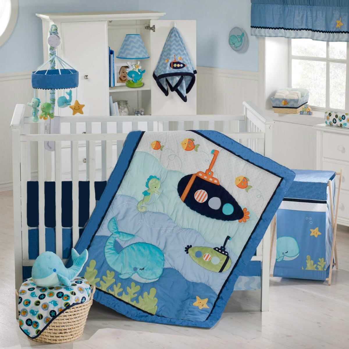 Nemo s reef 4 piece crib bedding set disney baby - Find This Pin And More On Proyectos Que Intentar By Damco74 Blue Lagoon 8 Piece Baby Crib Bedding Set