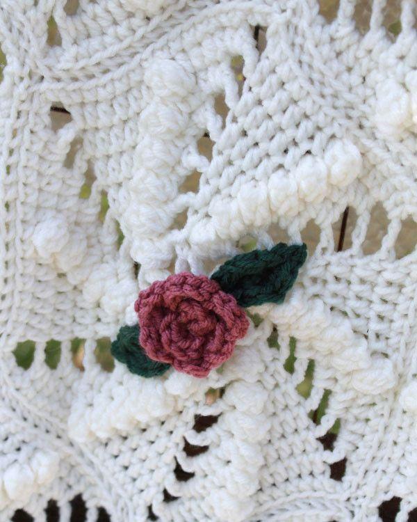 Pinwheel Rose Afghan Crochet Pattern | Cubrecamas, Tejido y Colchas