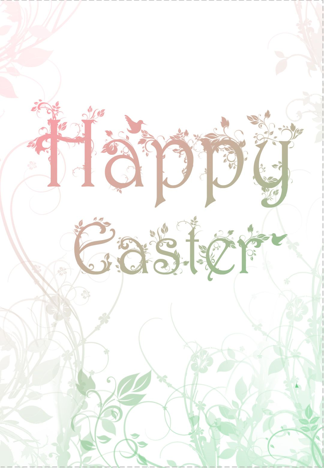 Free Printable Decorated Easter Card Greeting Card Easter Cards Easter Greeting Cards Easter Images