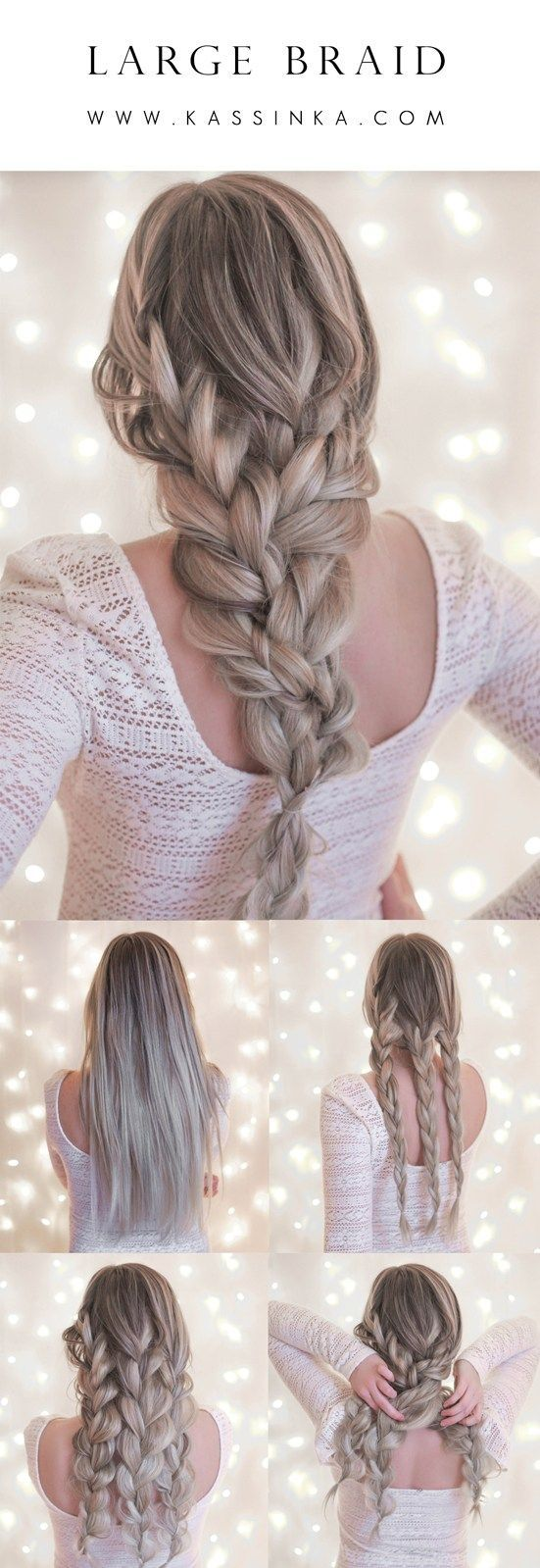 Photo of Große Braid Hair Tutorial Kassinka