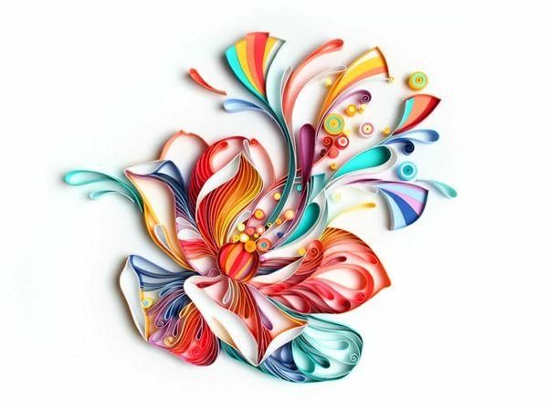 Basteln Mit Papierstreifen Kunstvolle Aussagekraftige Abbildungen