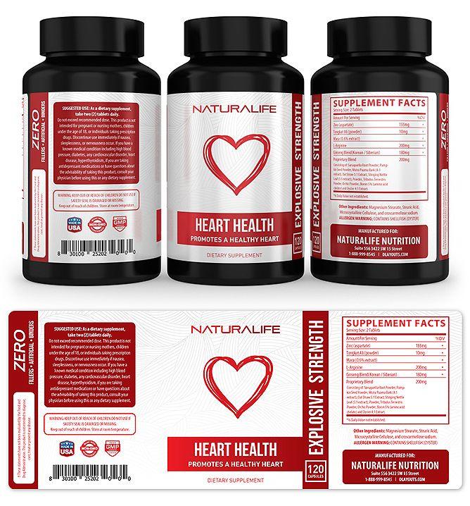 Heart Health Supplement Label Template HttpWwwDlayoutsCom