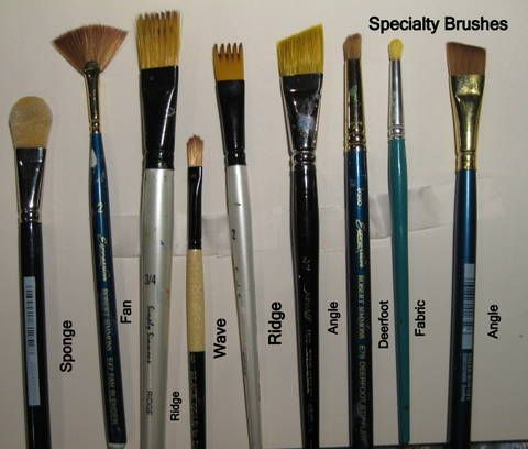 Different Art Paint Brushes