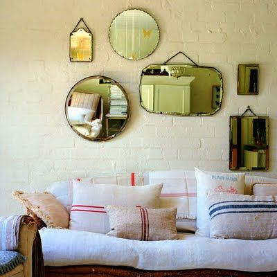 Mirrors and pillows