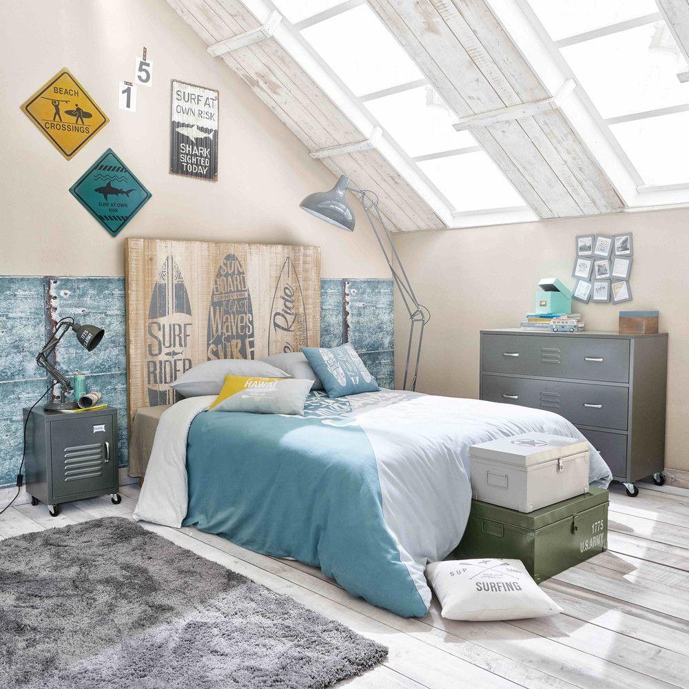 Camerette Per Ragazzi Maison Du Monde.Ados In 2019 Decoracion De Interiores Wood Headboard Pine
