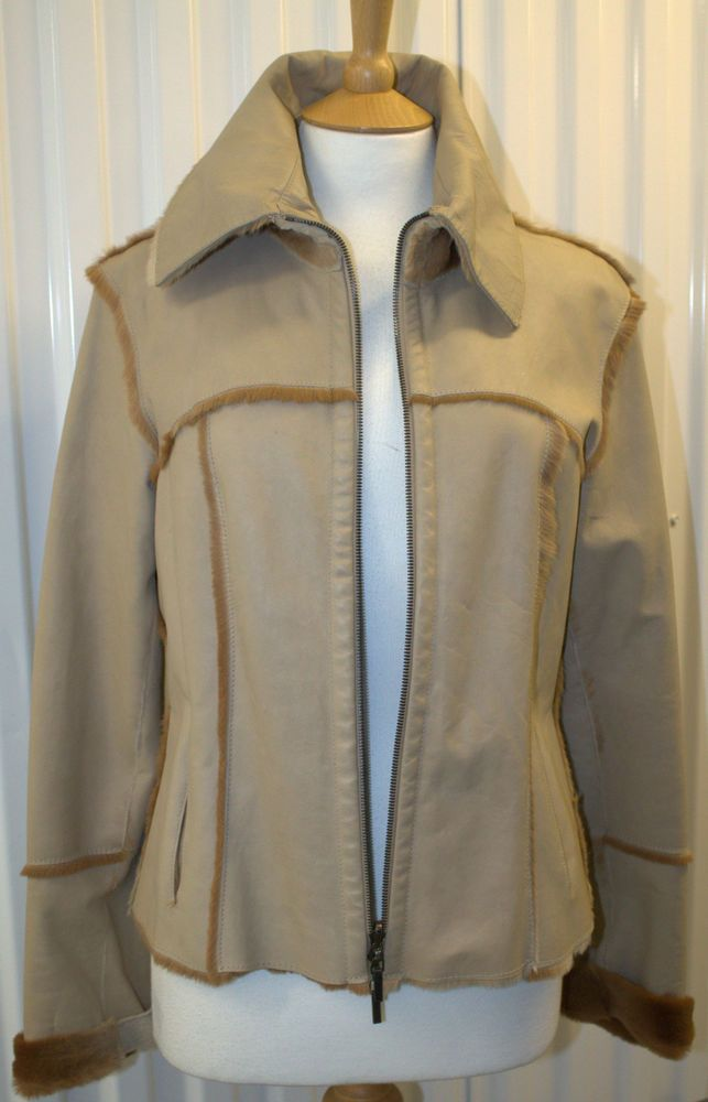 582b6a9df Hugo Boss Kangaroo Skin & Fur Jacket UK 14 FR 44 US 10 IT 46 Excellent Cond.