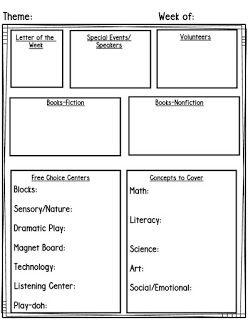 teach pre k free lesson planning templates planning. Black Bedroom Furniture Sets. Home Design Ideas