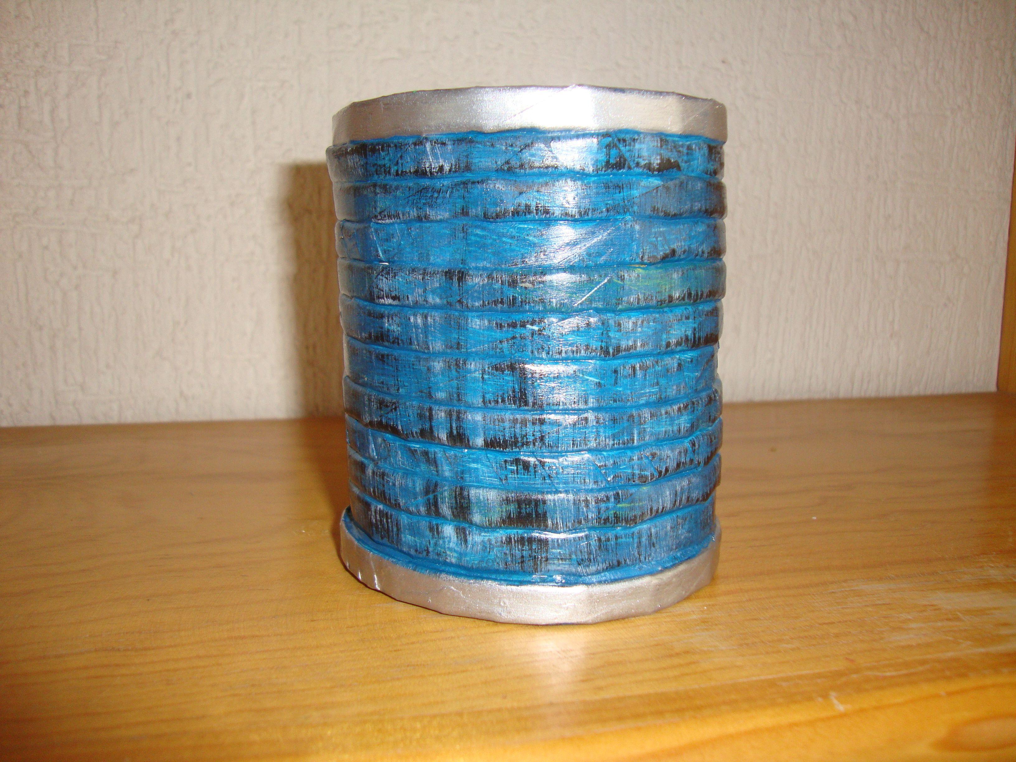 14 lapicero azul plata