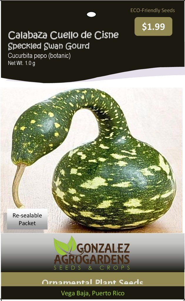 Speckled Swan Gourd 'Lagenaria siceraria' Seed Packet – GonzalezAgroGardens