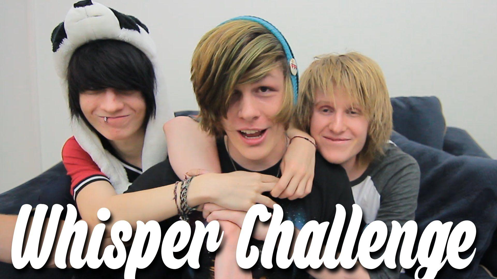 Whisper challenge ft johnnie and bryan emo guys pinterest