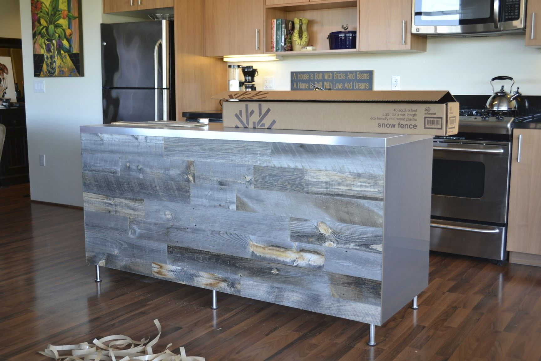 Stikwood Plan Peel Stik Wood Plank Walls Peel And Stick Wood Reclaimed Wood Paneling