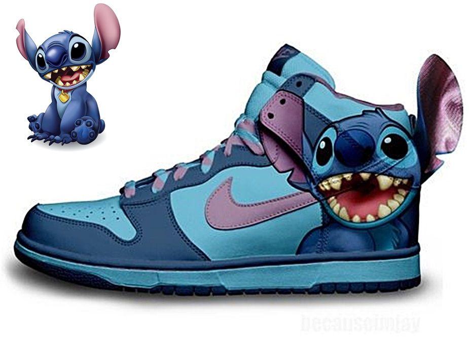 dd41a7368110  Disney Shoes  Disney Item  Stitch Nike Outfits