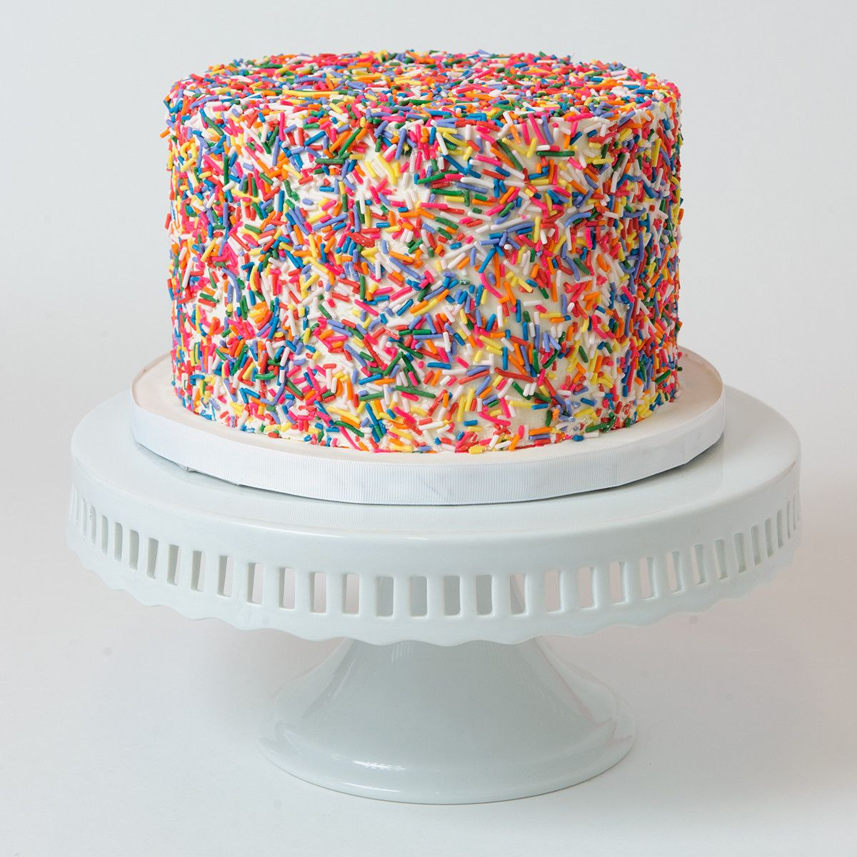 white birthday cake with sprinkles - Google Search
