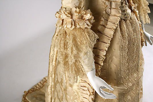 1880s (early) ___ Wedding Dress ___ Silk ___ American