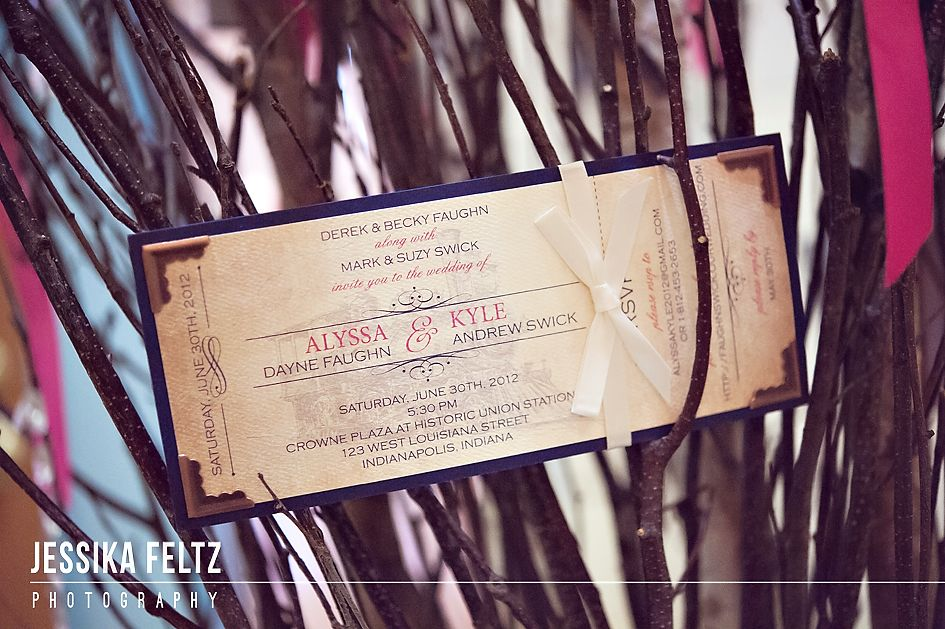 Wedding Invitations Indianapolis: Train Ticket Inspired Wedding Invitation