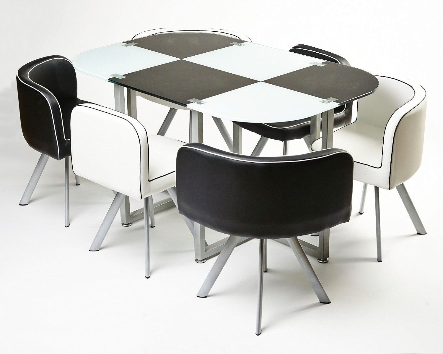 Space saving kitchen table for 6
