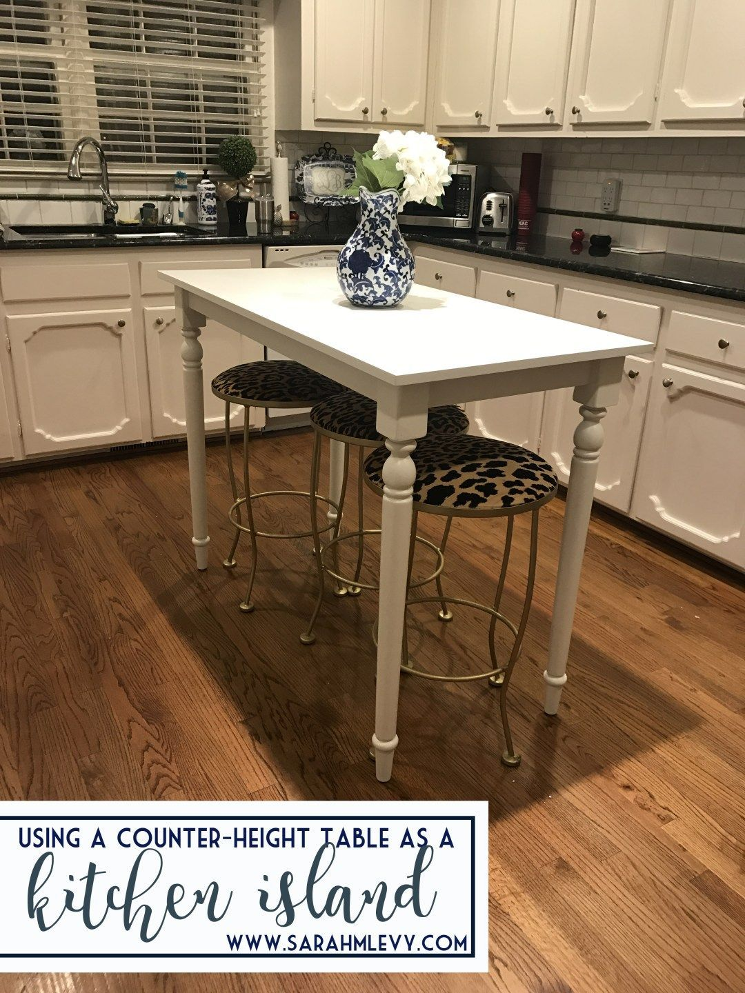 Counter Height Table As A Dream Kitchen Island With Blue And White Chinoiserie And Serenget Dream Kitchen Island Counter Height Kitchen Table Diy Kitchen Table