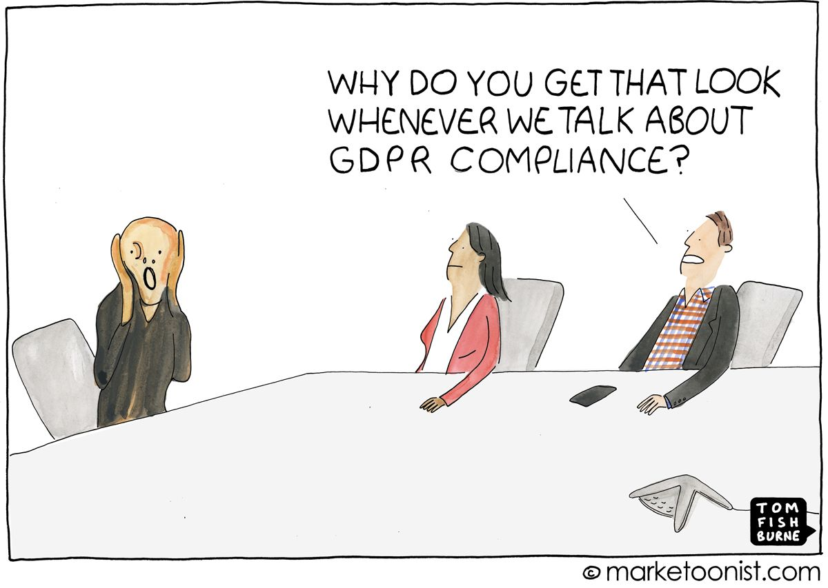 Marketing Data And Gdpr Compliance Cartoon Gdpr Compliance