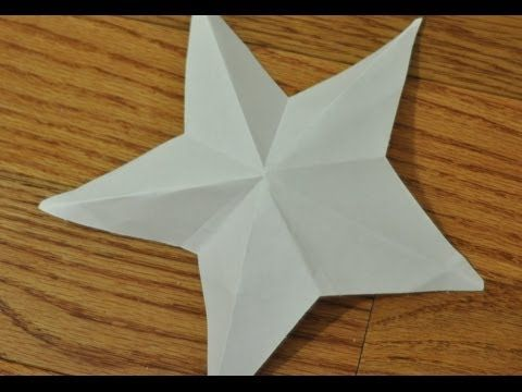How To Cut A 3d Paper Stars Star 5 Point Star Make 3d Stars Out Of