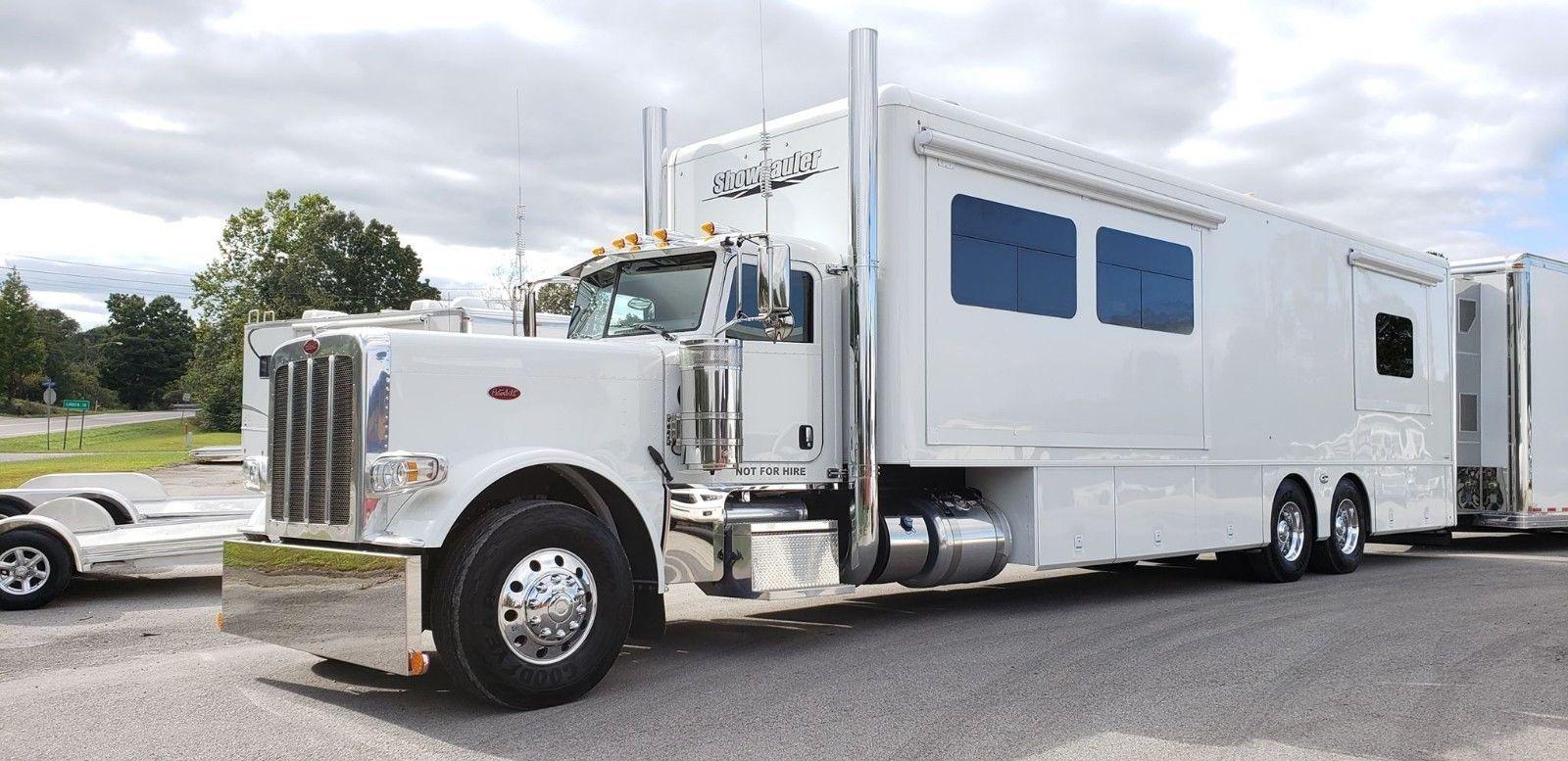 2016 Showhauler 45 3 Slides Motorhome Toterhome Peterbilt Chassis 14k Miles Ebay Peterbilt Peterbilt Trucks Big Trucks