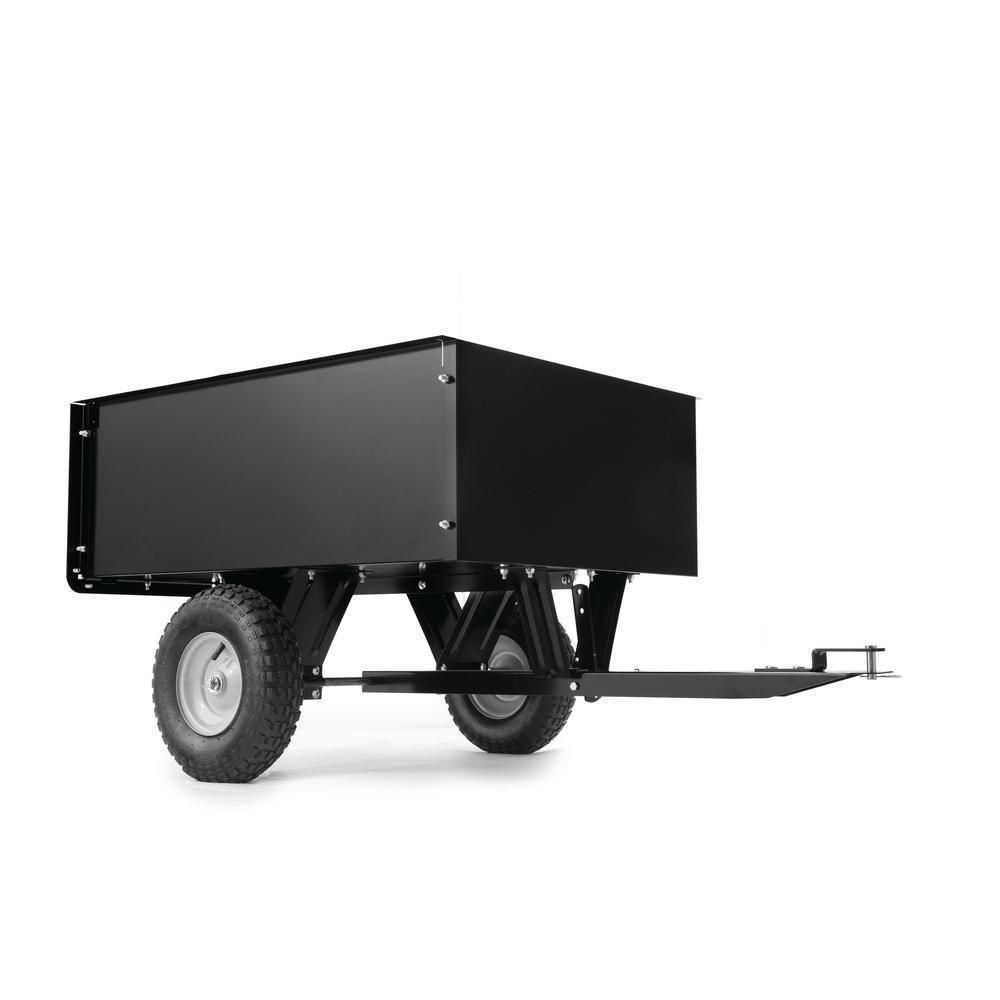 Steel Dump Cart Wagon Garden Yard Tractor Lawn Mower Trailer Attachment 9cu Feet Dump Cart Lawn Mower Trailer Yard Tractors
