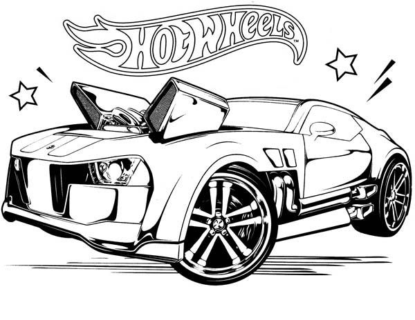 hot wheel coloring pages # 9